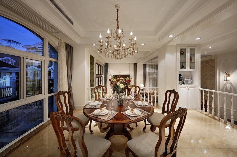 白色雅致欧式餐厅客厅吊顶设计图片图片