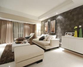 时尚米色简约风格客厅设计图片