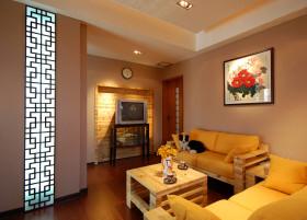 中式米色客厅设计装潢