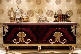 新古典风格红色客厅玄关装修图