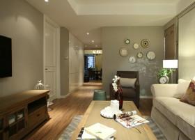 休闲灰色简约风格客厅装饰设计图片