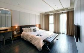 现代风格黑色时尚卧室窗帘装潢案例
