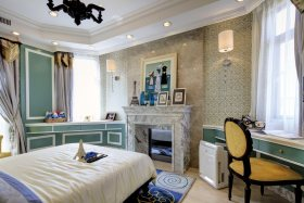 2016灰色时尚欧式风格温馨卧室设计欣赏