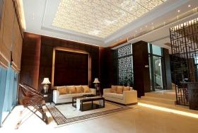 中式黄色雅致客厅吊顶效果图赏析