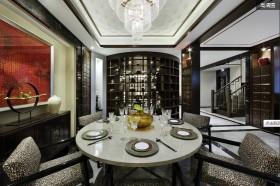 新中式灰色餐厅美图