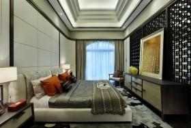 灰色中式卧室隔断设计图欣赏