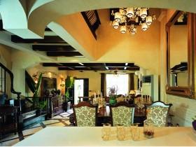 欧式奢华黄色餐厅装饰图