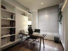 白色简约书房设计图片赏析