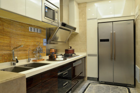 现代风格黄色厨房装修效果图