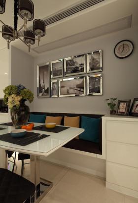 灰色现代餐厅装修效果图片