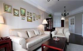 米色简欧风格客厅图片欣赏