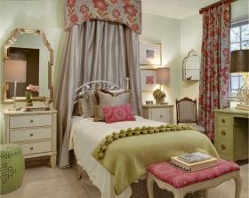 美式风格绿色卧室设计图