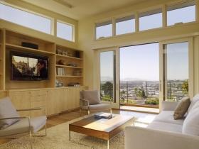 简约黄色客厅背景墙设计