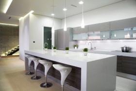 白色现代时尚厨房装潢设计图