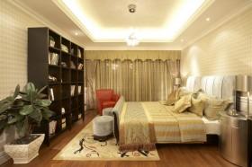 新中式橙色卧室设计装潢图