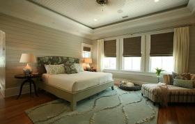绿色混搭风格卧室设计欣赏