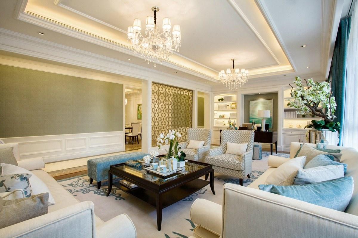 简欧式风格灰色客厅装饰效果图图片