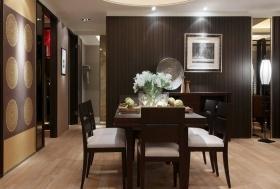 黑色中式古典餐厅装潢案例