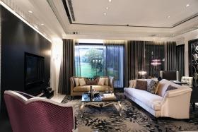 新古典风格黑色奢华客厅装修图片