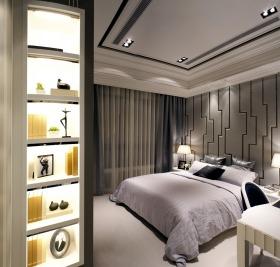 现代风格时尚灰色卧室设计案例