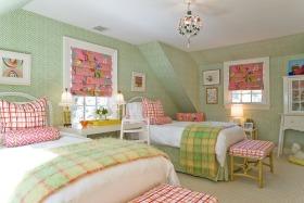 清新田园风格绿色儿童房装修设计