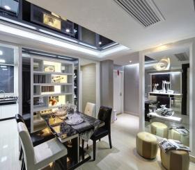 现代风格时尚白色餐厅装修设计