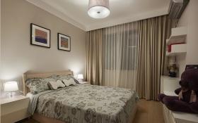现代风格米色卧室窗帘美图欣赏