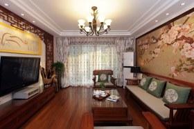 新中式黄色客厅吊顶装饰案例