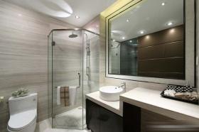 灰色现代风格卫生间效果美图欣赏