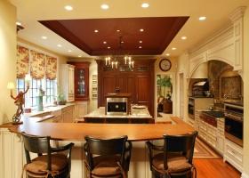 黄色欧式风格厨房装饰案例