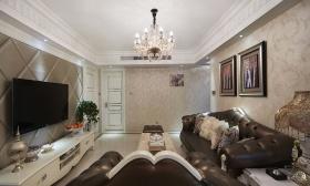 欧式黑色轻奢客厅装饰美图欣赏