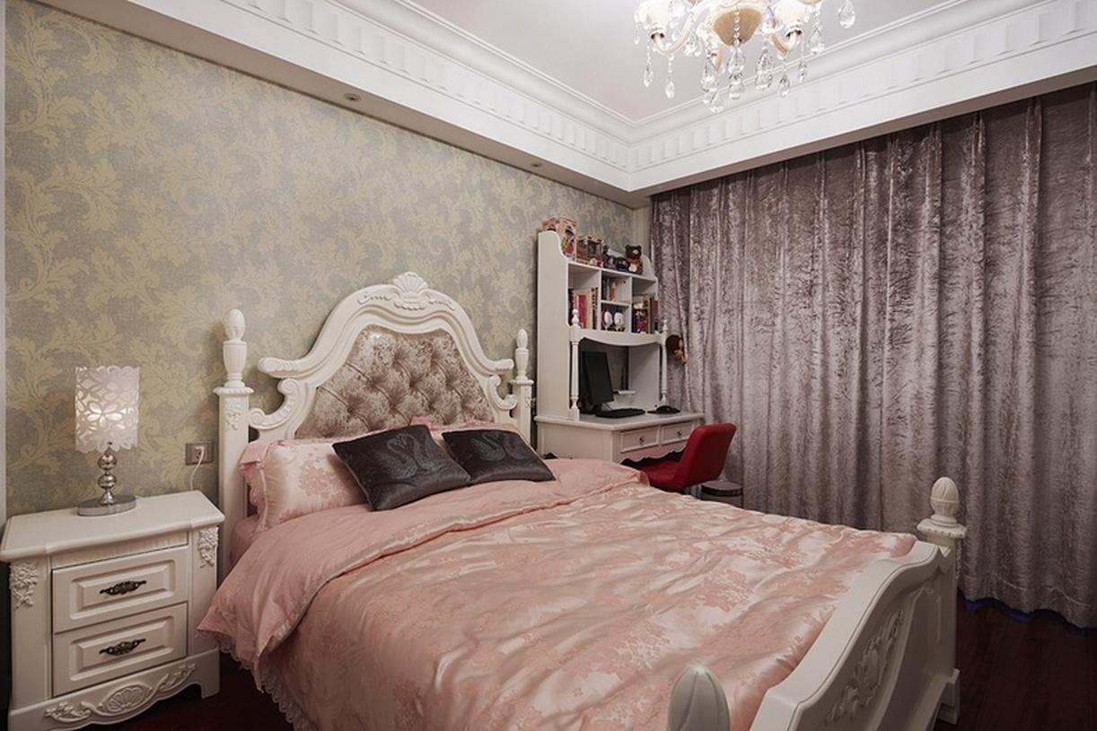欧式浪漫粉色卧室装修效果图图片