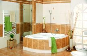 橙色欧式卫生间图片欣赏