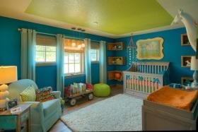 多元混搭风格儿童房窗帘设计案例