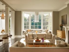 简欧风格白色客厅装修布置