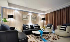 简约风格黑色客厅沙发装饰设计图片