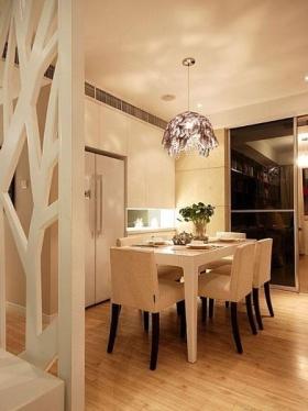 米色现代风格餐厅吊顶装修布置效果图