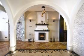白色地中海风格背景墙设计图片