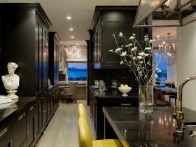 黑色简欧风格厨房美图