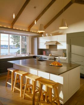 宜家风格温馨黄色厨房装修效果图
