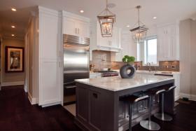 灰色美式风格厨房效果图赏析