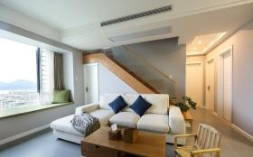 现代风格米色休闲客厅设计