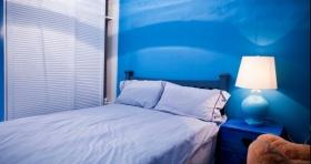 蓝色地中海卧室设计图欣赏