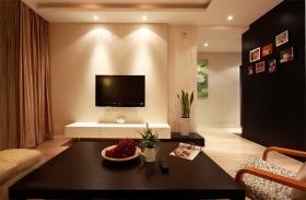 现代风格黑色客厅背景墙赏析