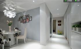 灰色简约客厅过道装饰设计图片
