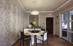 现代风格白色餐厅装潢设计图