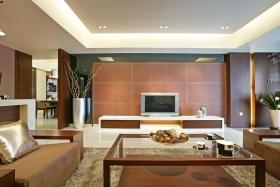 中式风格客厅背景墙效果图设计