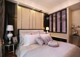 米色时尚现代风格卧室装修布置