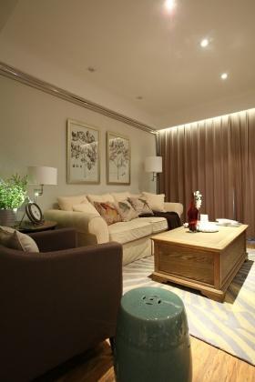 简约风格米色时尚客厅装修设计
