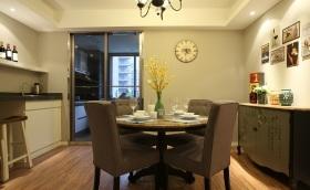 黄色混搭风格温馨餐厅装饰设计图片